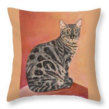 Maximus Throw Pillow by Heather Kertzer