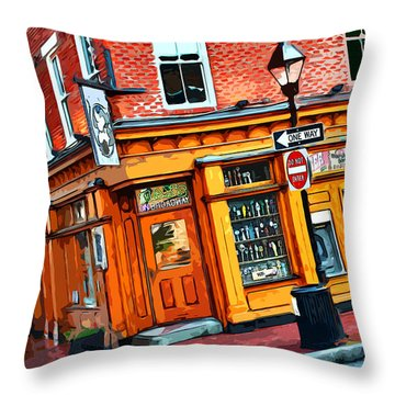 Max's On Broadway Throw Pillow