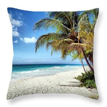 Maxwell Beach Barbados Throw Pillow