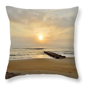 May 13 Obx Sunrise Throw Pillow