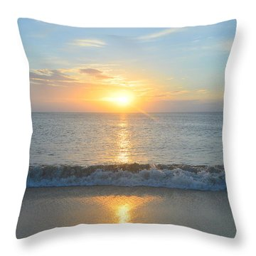 Throw Pillow featuring the photograph May 23 Sunrise by Barbara Ann Bell