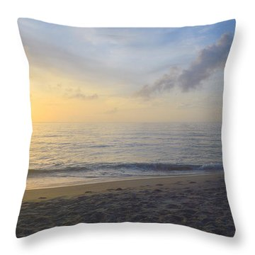 Throw Pillow featuring the photograph May 28th Sunrise by Barbara Ann Bell
