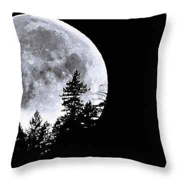 May 4 Moon Set Throw Pillow