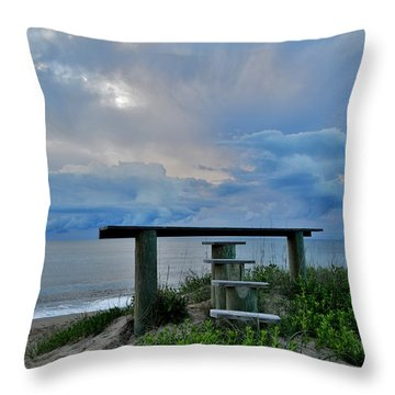 May 7th Sunrise Throw Pillow