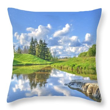 May Afternoon Throw Pillow