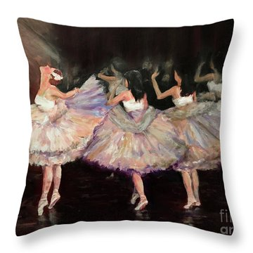 May Ballet Recital Throw Pillow