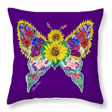 May Butterfly Throw Pillow