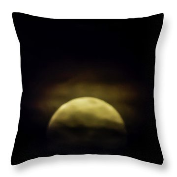 May Flower Moon Throw Pillow