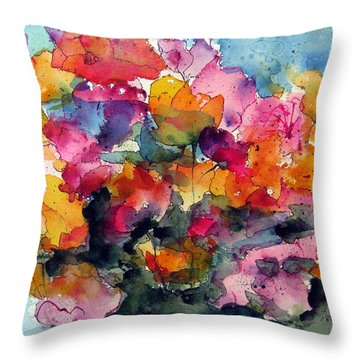 May Flowers Throw Pillow by Anne Duke