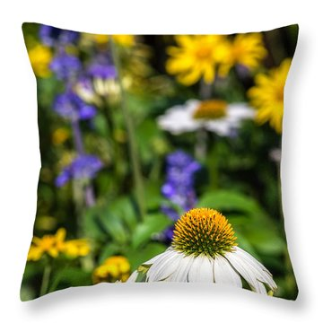 Throw Pillow featuring the photograph May Flowers by Steven Sparks