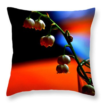 Throw Pillow featuring the photograph May Flowers by Susanne Van Hulst