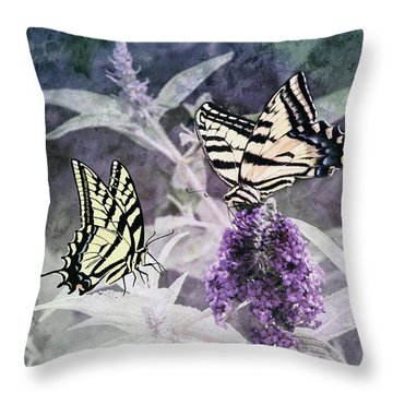 May I Join You Throw Pillow by Diane Schuster