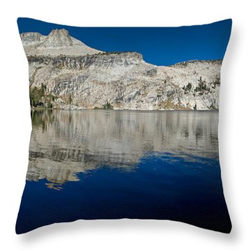 May Lake Panorama Throw Pillow