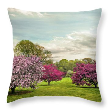 Throw Pillow featuring the photograph May Meadow by Jessica Jenney