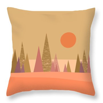 May Morning Sunrise Throw Pillow by Val Arie