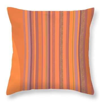 May Morning Vertical Stripes Throw Pillow