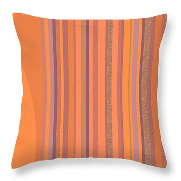 Throw Pillow featuring the digital art May Morning Vertical Stripes by Val Arie