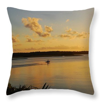 Throw Pillow featuring the photograph May River by Margaret Palmer