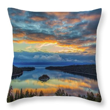 May Sunrise At Emerald Bay Throw Pillow by Marc Crumpler