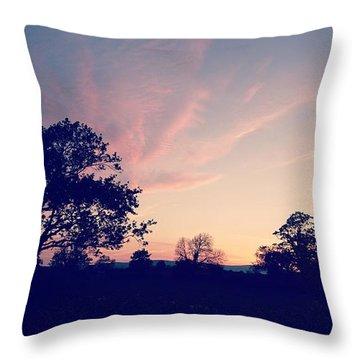 May Sunrise, Lancashire, England Throw Pillow