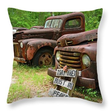 May They Rust In Peace Throw Pillow
