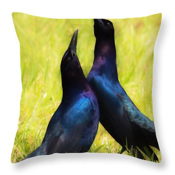 Throw Pillow featuring the photograph May We Dance by Kelly Marquardt