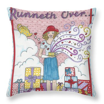 May Your Cup Runneth Over Throw Pillow