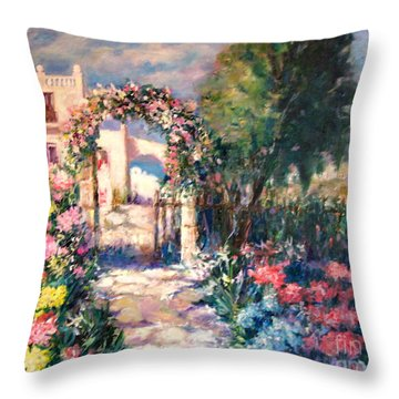 May Your Life Be Like A Flower Throw Pillow