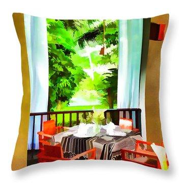 Maya Sari Mas Throw Pillow by Lanjee Chee
