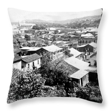 Mayaguez - Puerto Rico - C 1900 Throw Pillow