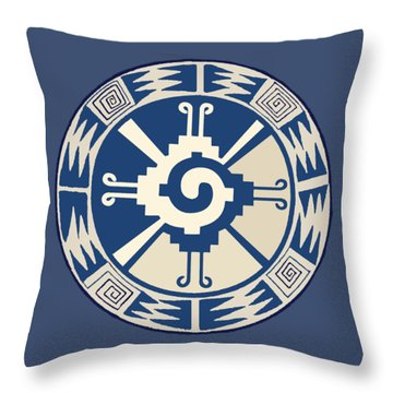 Mayan Hunab Ku Design Throw Pillow