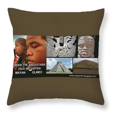 Mayan Olmec Throw Pillow