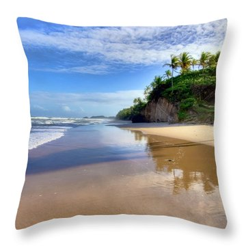 Mayaro Beach Trinidad Throw Pillow