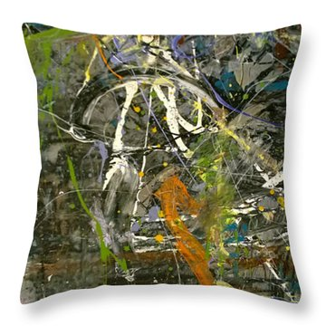 'maybe Guitar' Or Abstract 42515 Throw Pillow