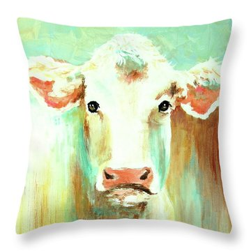Maybell The Cow Throw Pillow