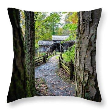 Maybry Mill Through The Trees Throw Pillow