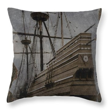 Mayflower 1 Throw Pillow
