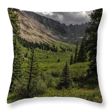 Mayflower Gulch Throw Pillow
