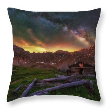 Throw Pillow featuring the photograph Mayflower Milky Way by Darren White