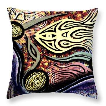 Mayim Throw Pillow by Luke Galutia