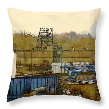 Maynard Steel Throw Pillow
