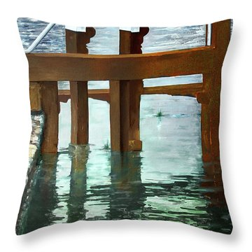 Maynooth Lock Throw Pillow by Marty Garland