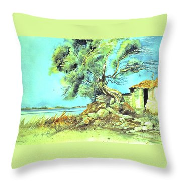Mayorcan Tree Throw Pillow