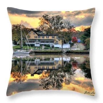 Mays Landing Morning Throw Pillow by John Loreaux