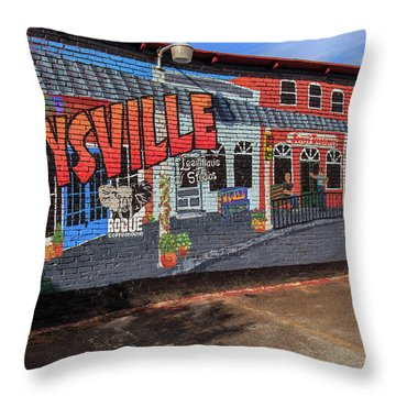 Maysville Mural Throw Pillow