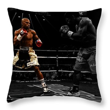 Mayweather And Pacquiao Throw Pillow