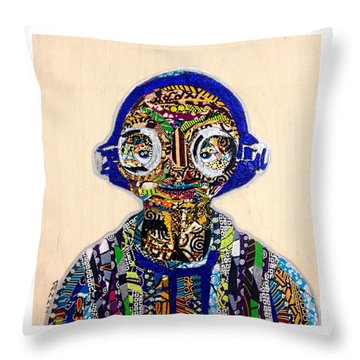 Maz Kanata Star Wars Awakens Afrofuturist Colection Throw Pillow