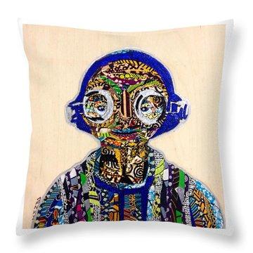 Throw Pillow featuring the tapestry - textile Maz Kanata Star Wars Awakens Afrofuturist Colection by Apanaki Temitayo M