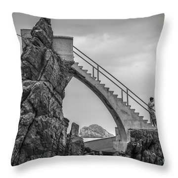Mazatlan Cliff Divers Throw Pillow