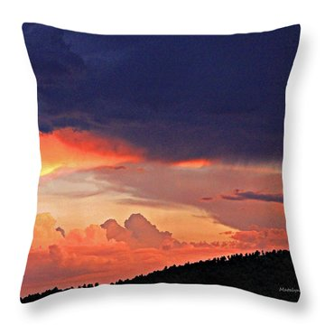 Mazatzal Peak Sunset Throw Pillow